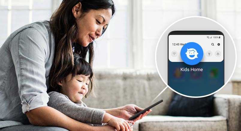 use kids home on galaxy s10
