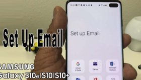 setting email on galaxy s10